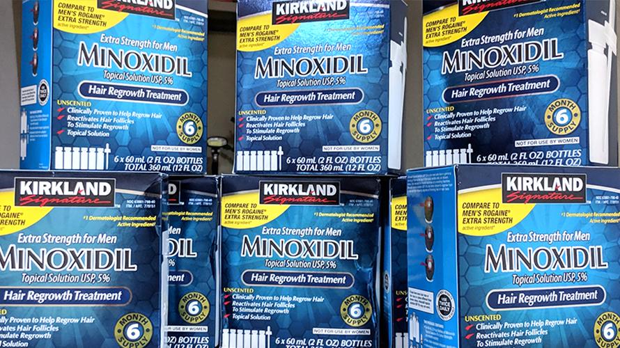Minoxidil Kirkland Caixas