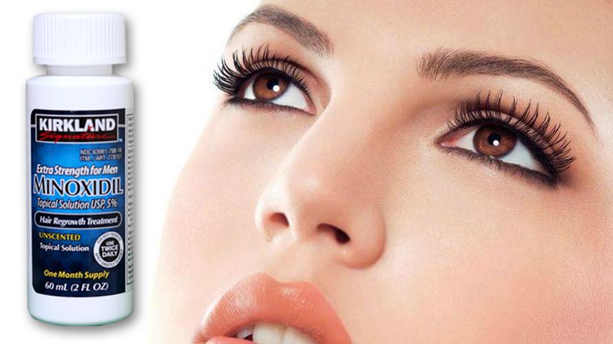 Usar minoxidil na sobrancelha